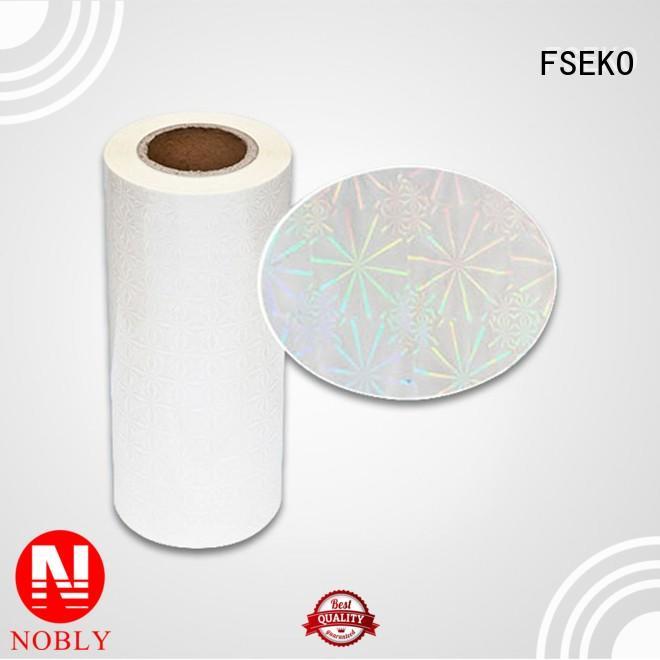 FSEKO moisture proof holographic films manufacturers maker for menu