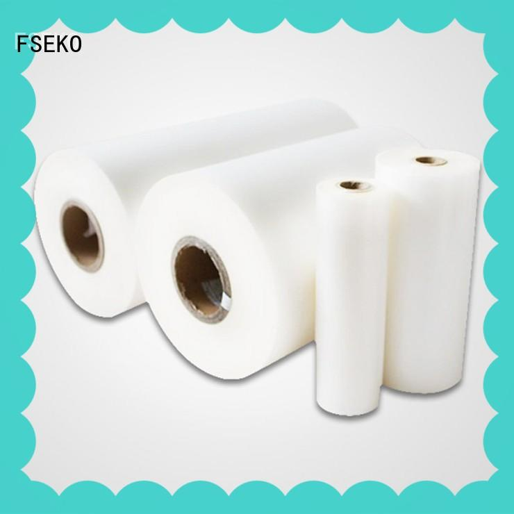 FSEKO pet thermal lamination film for business for bags