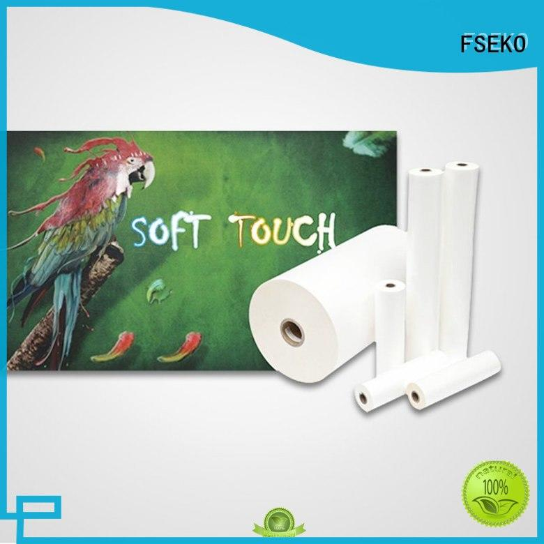 hot sale soft touch coating bvm for bags FSEKO