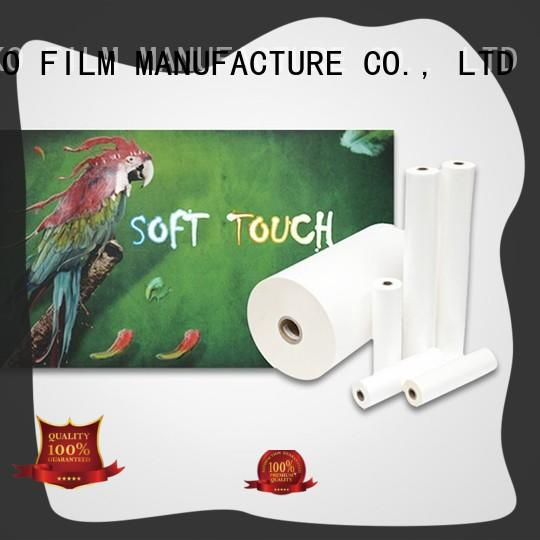 popular soft touch film bvm for book cover
