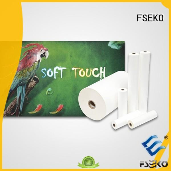 FSEKO moisture proof bopp soft touch latest for menu