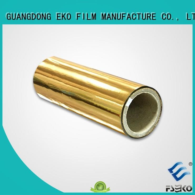FSEKO popular metallized polyethylene film fo box