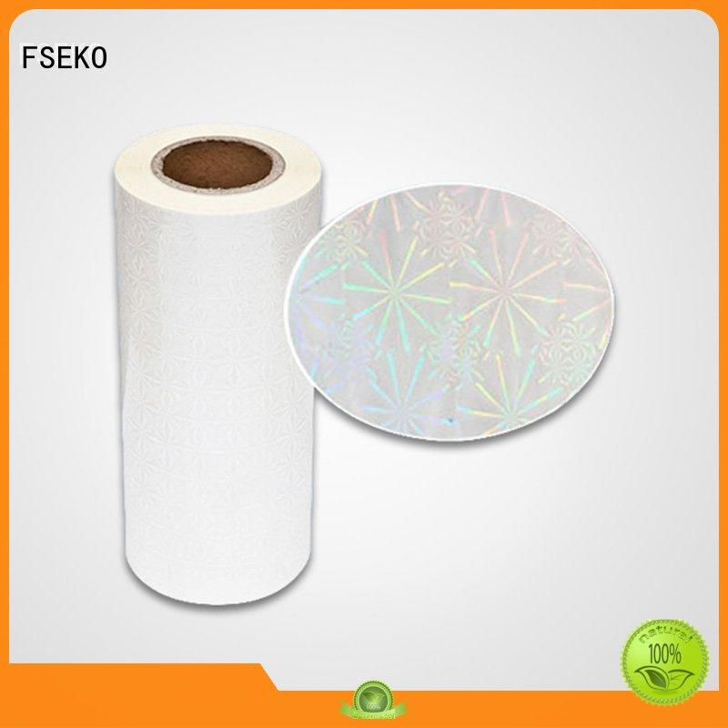 thermal Custom film holographic films manufacturers quality FSEKO