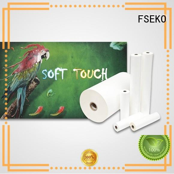 Custom thermal velvet soft touch lamination suppliers FSEKO film