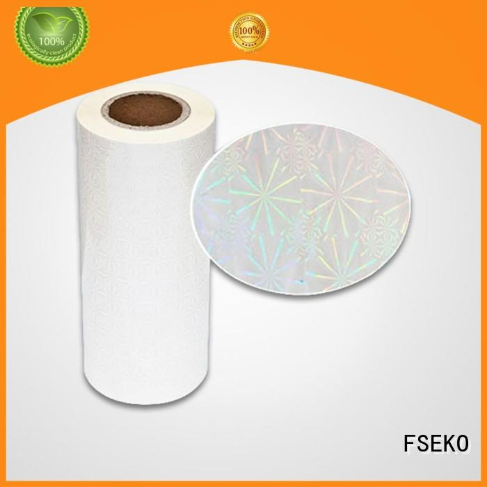 supplier roll hologram film manufacturers hologram FSEKO company