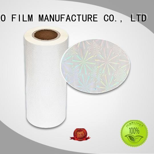high end holographic film material factory price for book cover