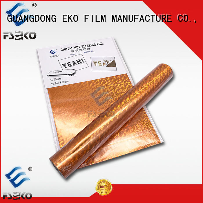 FSEKO silver hot stamping printing in China for packaging