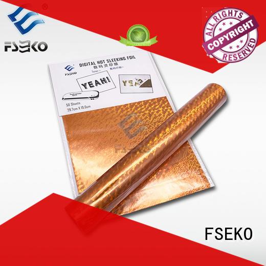 FSEKO green hot stamping plastic wholesale for postcard