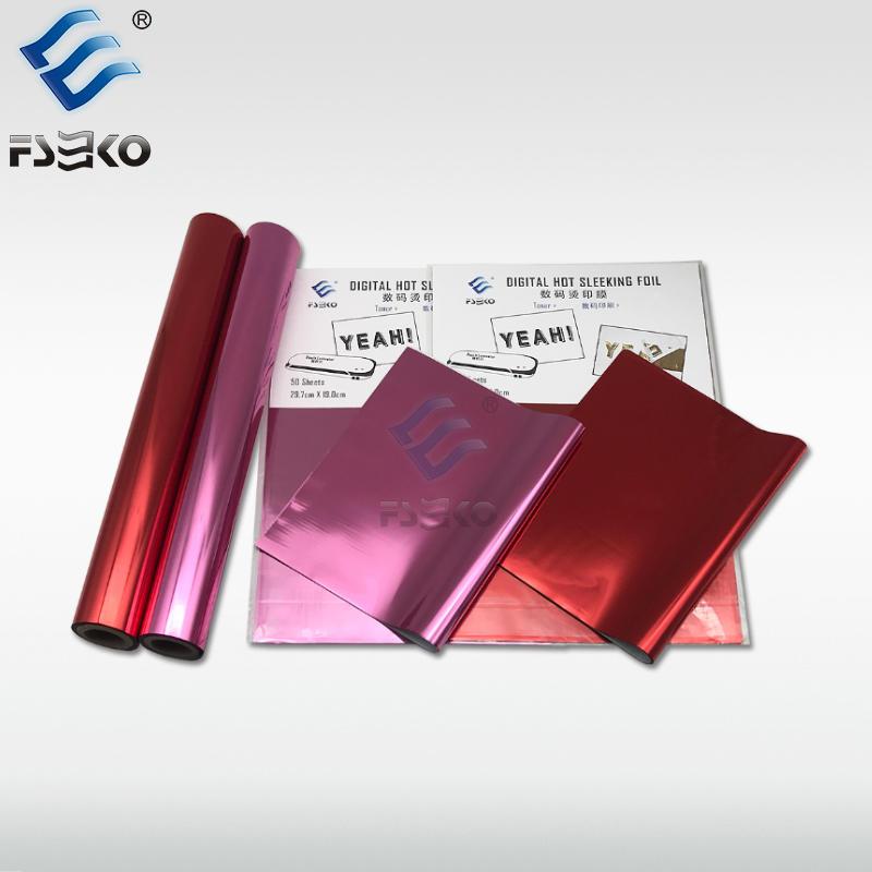 EKO Toner Foil Sleeking Foil Transfer Foil: Red foil and Pink foil