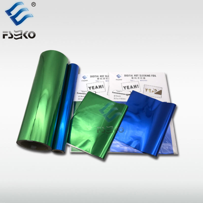 EKO Digital Toner Foil Sleeking Foil: Green Foil and Blue Foil
