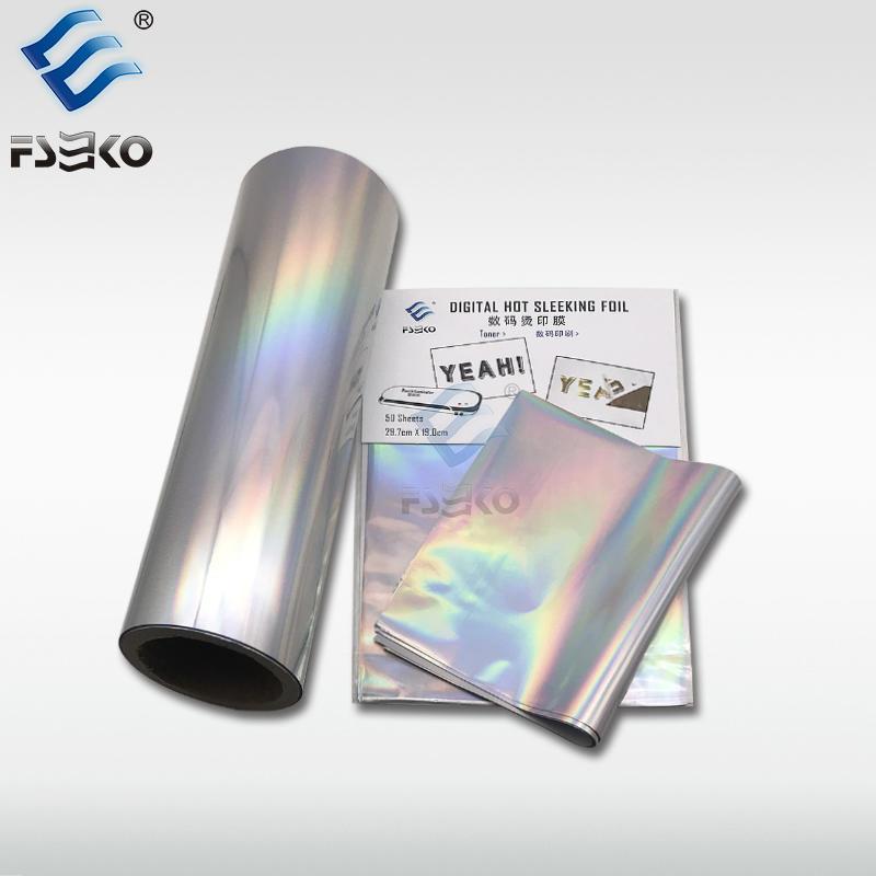 EKO Digital Toner Foil Sleeking Foil: Hologram Dazzle Silver Foil