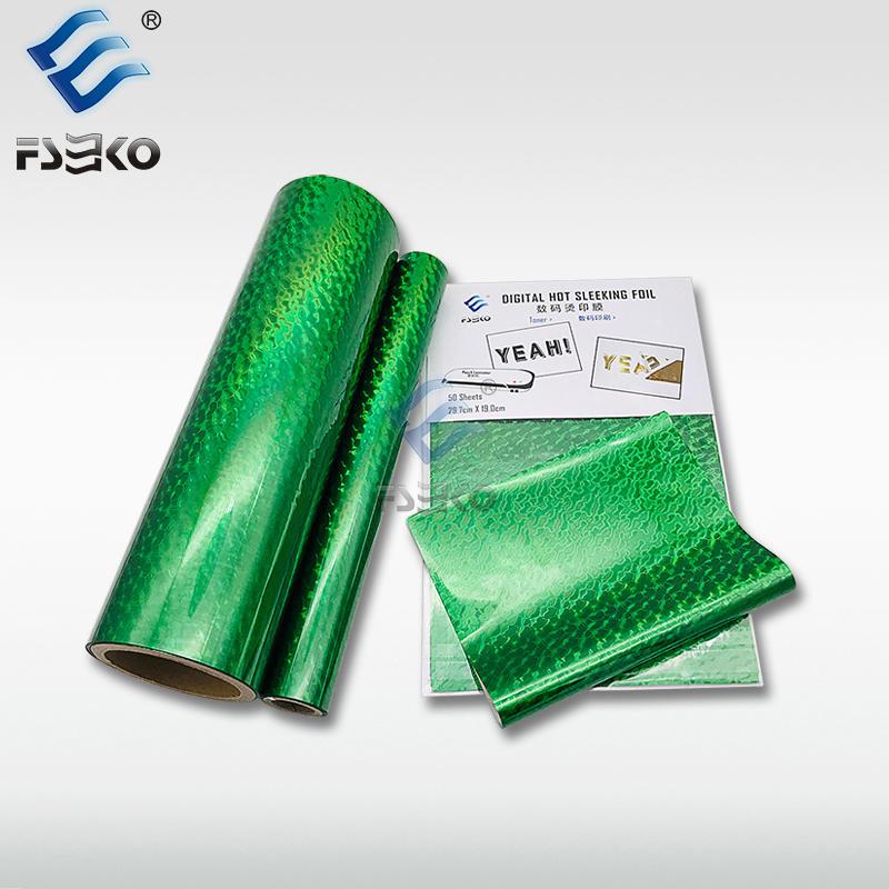 EKO Digital hot sleeking film/ Toner Foil: Green Wave
