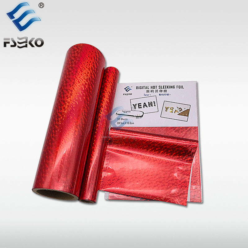 EKO Digital Toner Foil hot sleeking film: Red Wave