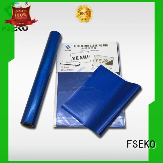 FSEKO green hot stamping foil suppliers online for postcard