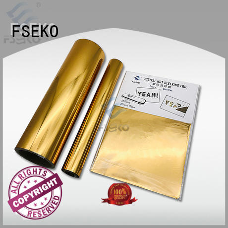 FSEKO silver hot stamping plastic wholesale for business card