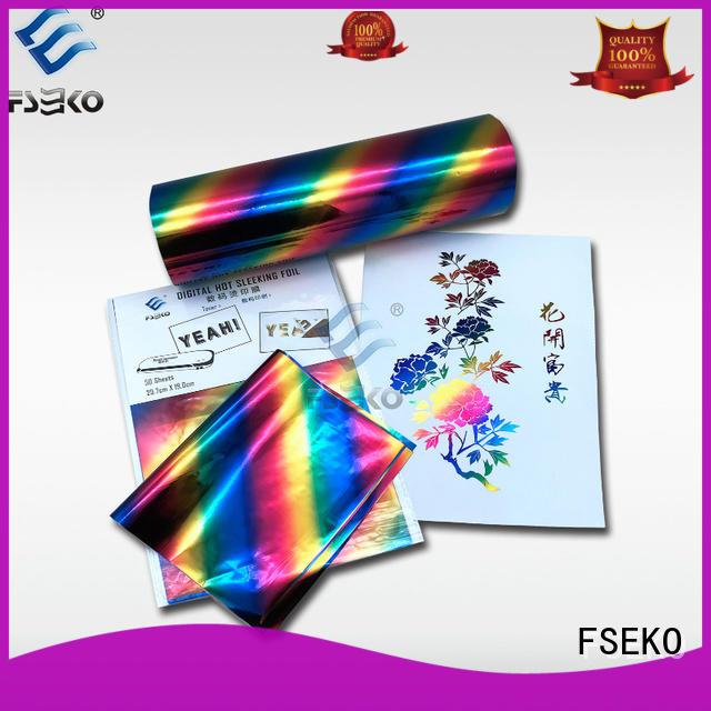 FSEKO hot foil stamping manufacturer for postcard