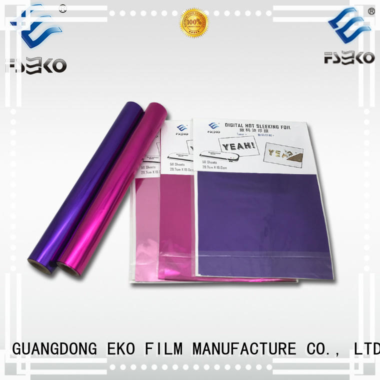 FSEKO hot foil stamping leather for business for postcard