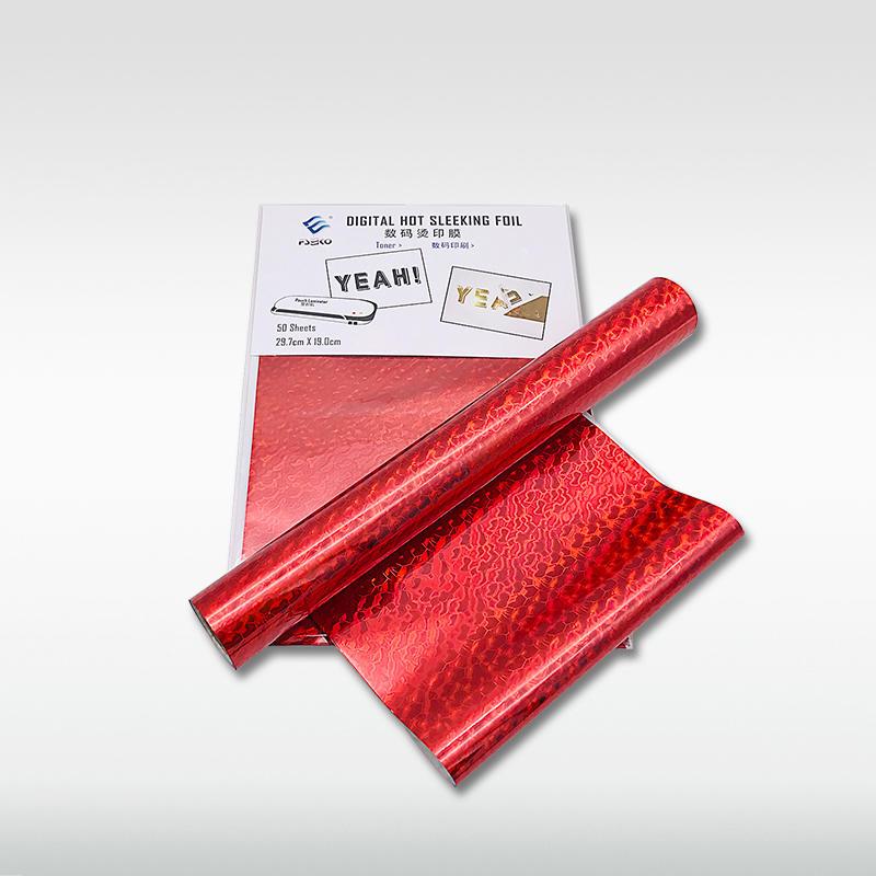 EKO Digital Toner Foil hot sleeking film: Red Wave