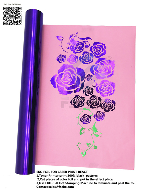 FSEKO-Eko Purple,magenta Color Toner Foil Arrive, Guangdong Eko Film Manufacture Co-2