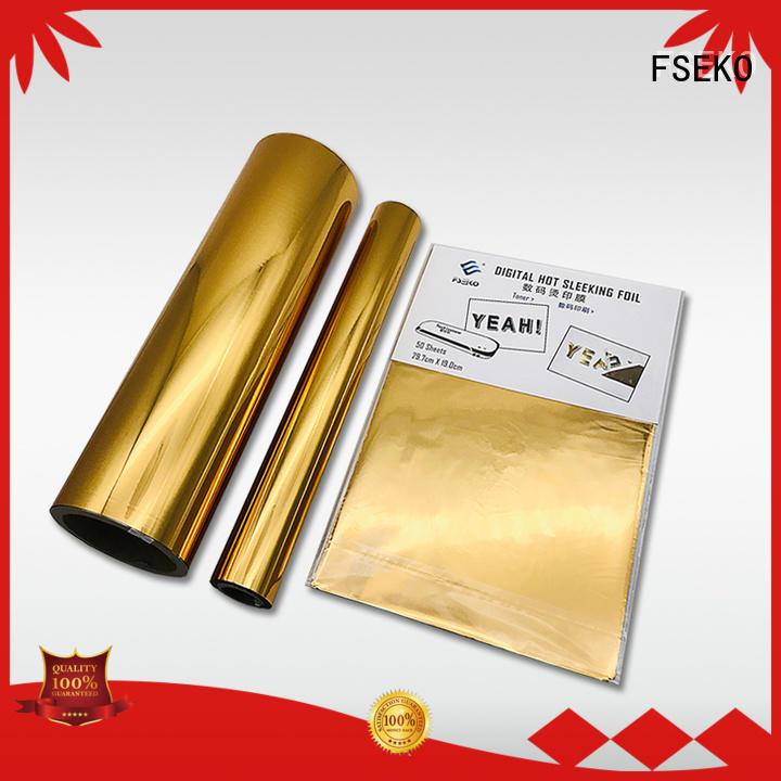 superior quality hot stamping plastic online for postcard FSEKO
